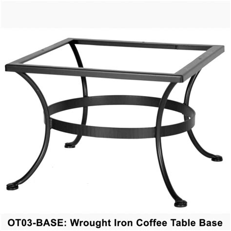 ow standard wrought iron coffee table base ot03 base