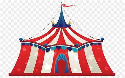 Tent Circus Carnival Clip Continuation Cartoon Barr