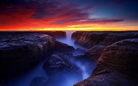 Beautiful Late Sunset 4K Wallpaper - HD Wallpapers