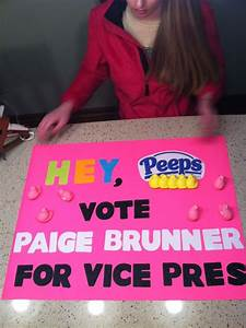 Paige's Student council elections poster Vice President ...