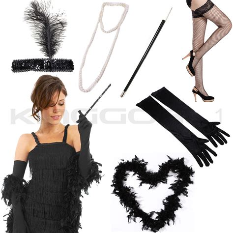girl accessories flapper 1920s 20s charleston fancy dress