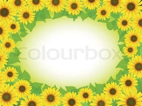 sunflower frame stock vector colourbox