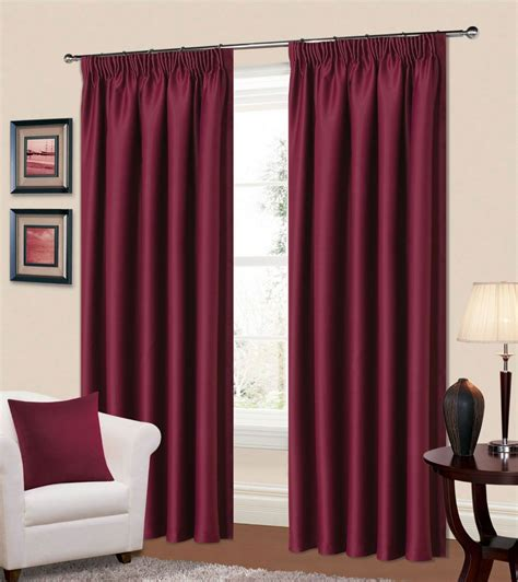 plain plum colour thermal blackout readymade bedroom