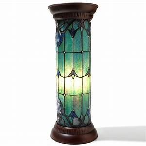 shophq tiffany style pedestal tvshoppingqueens With tiffany pedestal floor lamp