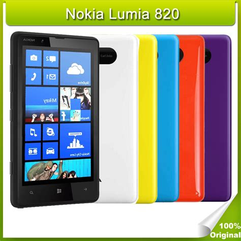 refurbished original nokia lumia 820 unlocked smartphones windows phone cell phone 8gb rom 4g