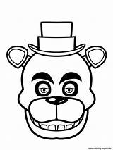 Coloring Pages Freddy Nights Five Freddys Print Fnaf Face Printable Fazbear Sheets Friday Info Find sketch template