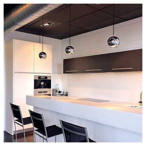 accessoires de cuisine suspension boule chromée luminaire de bar