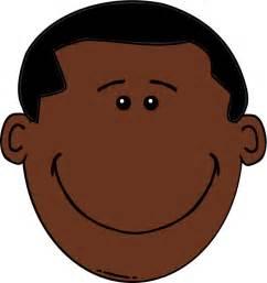 African American Boy Cartoon Face