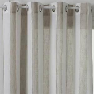 Rideau Voilage Lin : rideau voilage hugo 140x240cm lin ~ Teatrodelosmanantiales.com Idées de Décoration