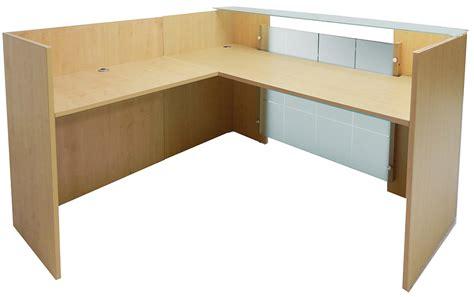 front desk reception furniture l shaped glass front reception desk
