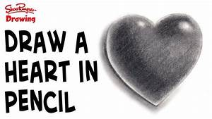 How To Draw A Heart In Pencil