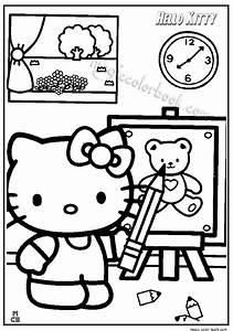 Hello Kitty Classroom Coloring Pages
