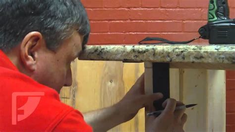 kitchen island countertop overhang how to install freedom countertop brackets for an