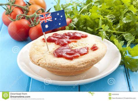 cuisine australienne nourriture australienne de tourte à la viande photo stock
