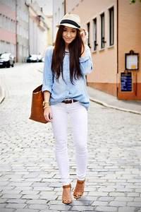 20 Stylish Outfit Ideas with Denim Shirt - Style Motivation