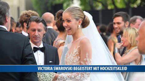 victoria swarovski begeistert mit hochzeitskleid youtube