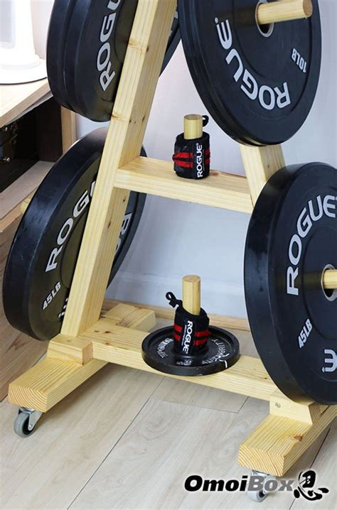 wooden weight tree  wheels rolling plate tree weight plate bumper plate storage