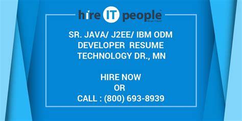 sr javajeeibm odm developer resume technology dr mn