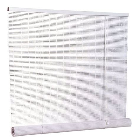 vertical blind headrail valance sold by radiance 1 4 quot oval vinyl pvc roll up blinds in