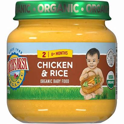 Chicken Rice Organic Brown Without Earth Jarred