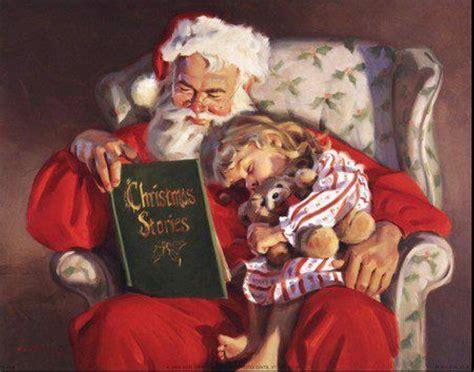 santa reading christmas stories santa claus st nick