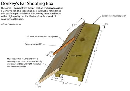 donkey ear shooting board woodworking blog