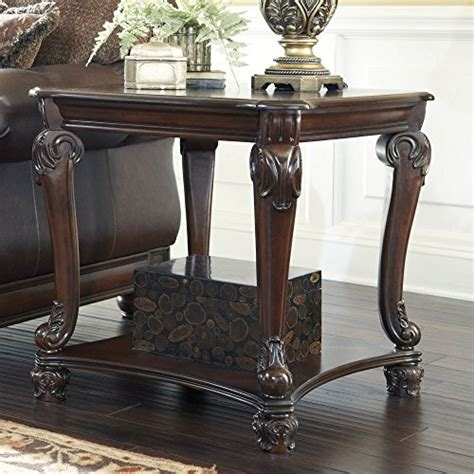 Traditional Brown Norcastle Sofa Table by Furniture Signature Design Norcastle Square End