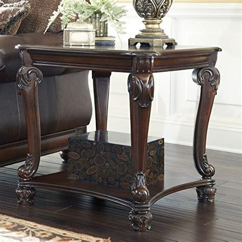 traditional brown norcastle sofa table furniture signature design norcastle square end