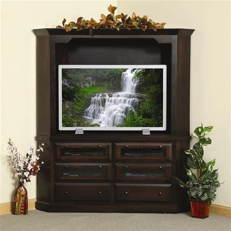 deluxe shaker corner plasma hdtv entertainment center