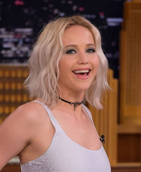 Jennifer Lawrence At Tonight Show With Jimmy Fallon In Ny