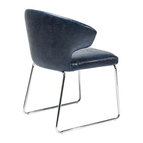 chaise bleue chaise moderne bleue atomic kare design