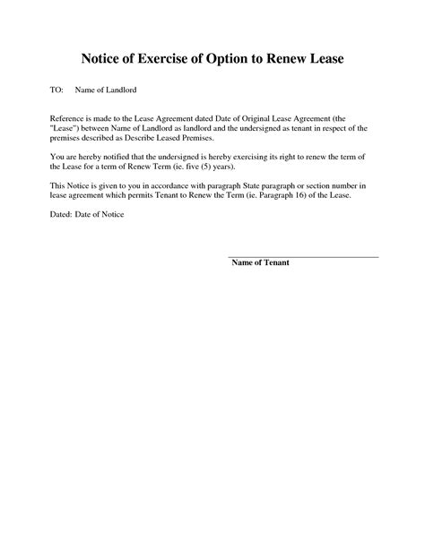 landlord not renewing lease letter to tenant 13 best images of lease expiration notice sle lease 22680