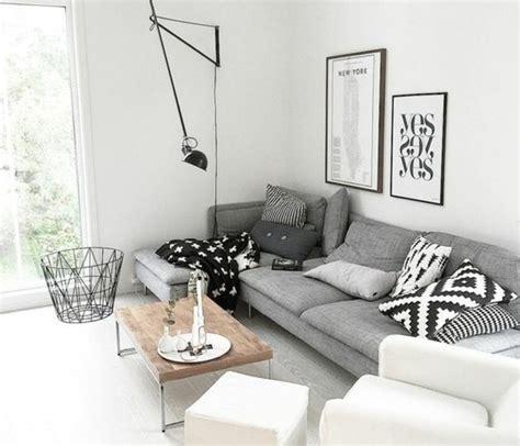 deco salon canape gris deco salon blanc et bois chaios com