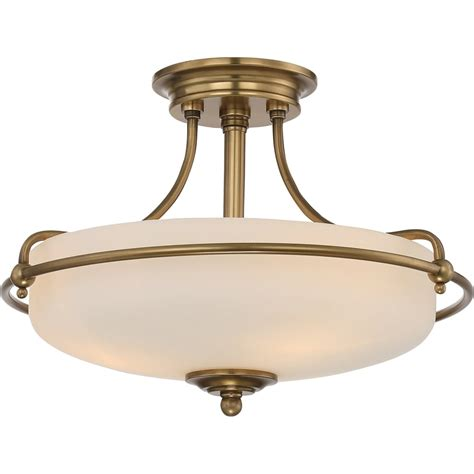 elstead lighting quoizel griffin 3 light semi flush