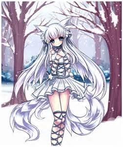 Ice Anime Fox Girl