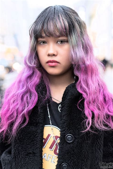 Gray And Pink Dip Dyed Hair Hair Colors Ideas
