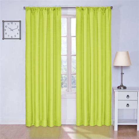 Lime Green Curtains by Eclipse Kendall Blackout Lime Curtain Panel 84 In Length