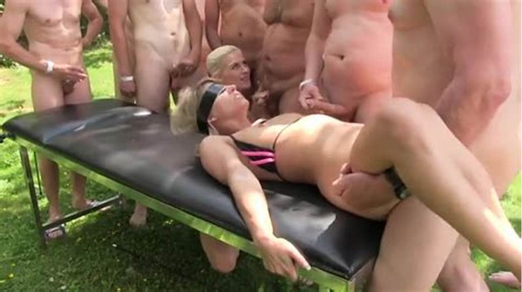 #Blindfolded #Cum #Slut #Fucked #In #An #Outdoor #Gangbang