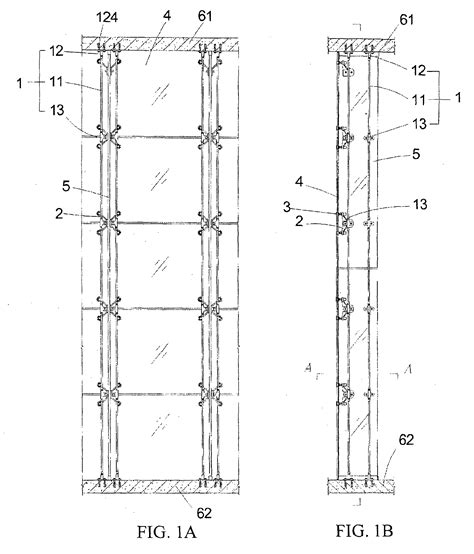 patent ep1882789b1 a point fixed curtain wall hanging