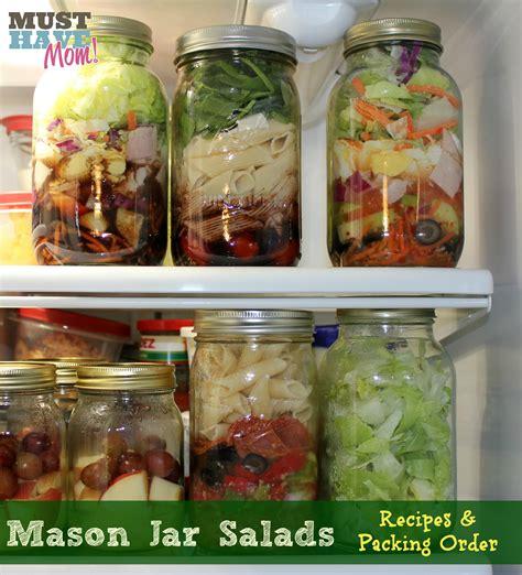 jar recipes mason jar chef salad recipe keeprecipes your universal recipe box