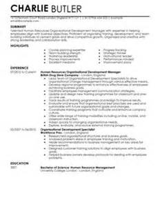 Cover Letter For Hr Professional Organisational Development Cv Exle For Human Resources Livecareer