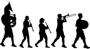 Marching Band Silhouette   Free vector silhouettes
