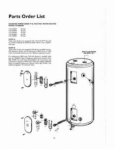 Kenmore 153318860 Electric Water Heater Parts