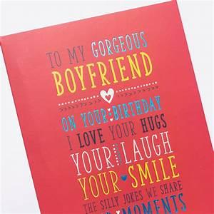 Birthday Card - For My Boyfriend | Only 89p