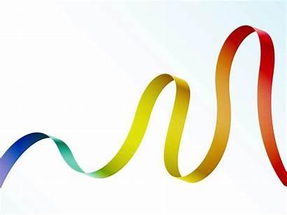 Ribbon Vector Rainbow Flowing Clipart Swirl Graphics