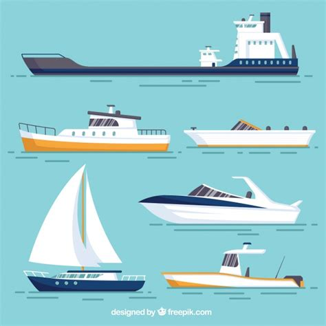 Fishing Boat Designs 1 by Various Boats With Different Designs Vector Free Download