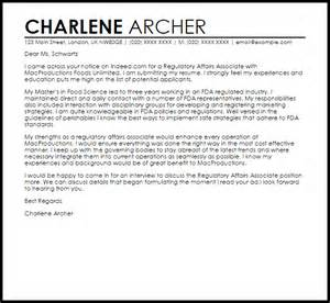 regulatory affairs resume sles regulatory affairs associate cover letter sle livecareer