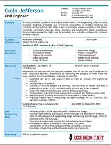 civil engineering technologist resume civil engineer resume 2017 sles