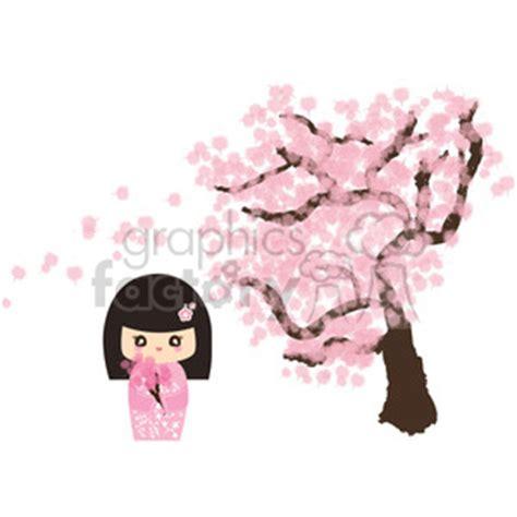 royalty  geisha cherry blossom cartoon character