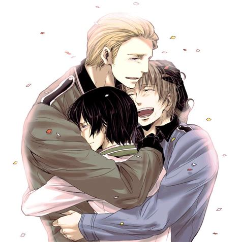 hetalia italy hug germany axis powers japan grasshopper countries hugging lies ina heavy power anime crying deviantart zerochan pray fan